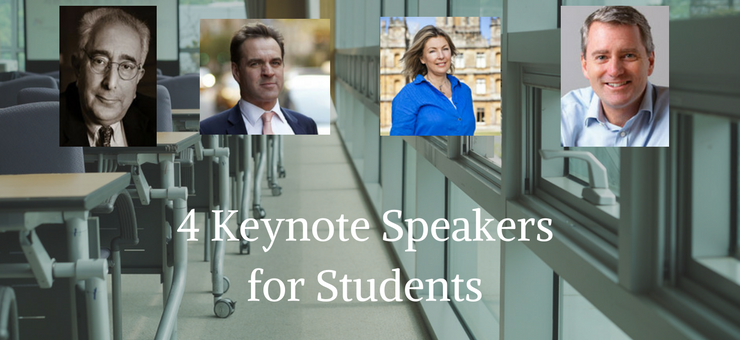 4 Keynote Speakers for Students and Education